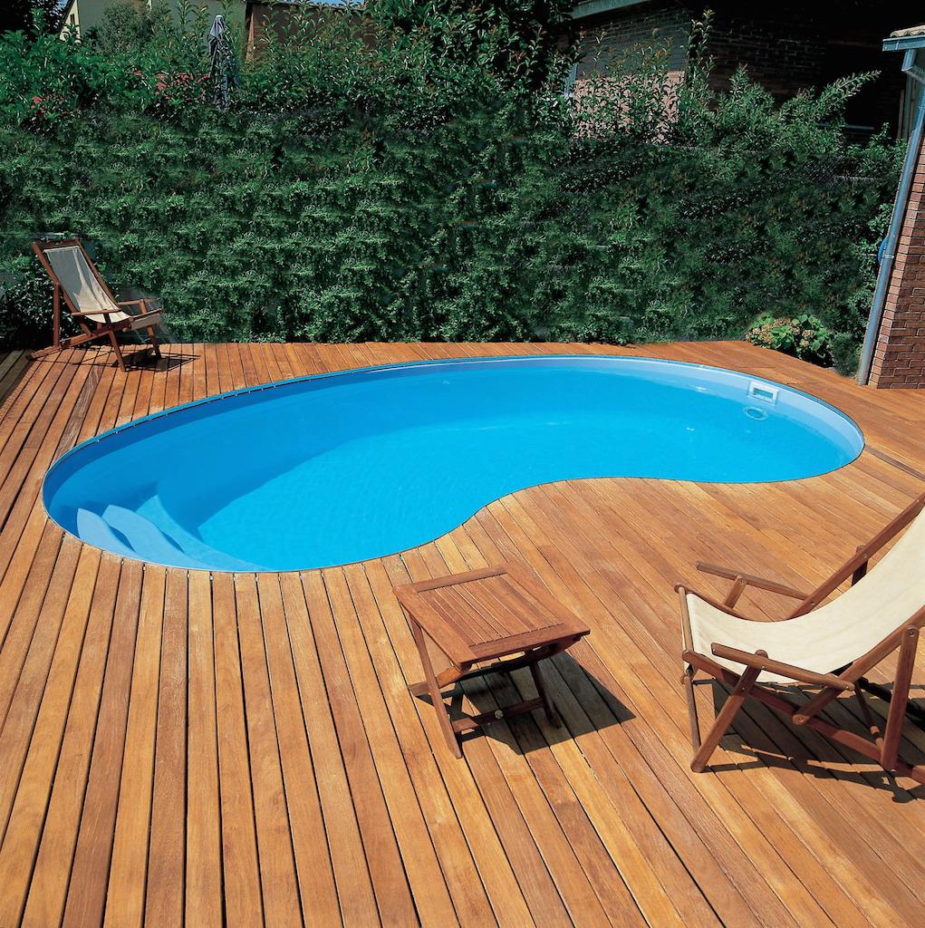 coque piscine en haricot